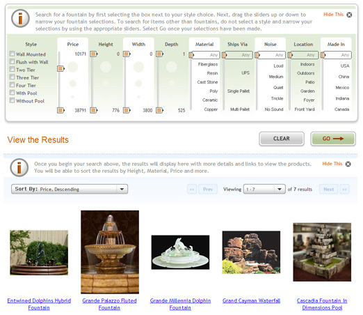 Garden Fountains screen shot